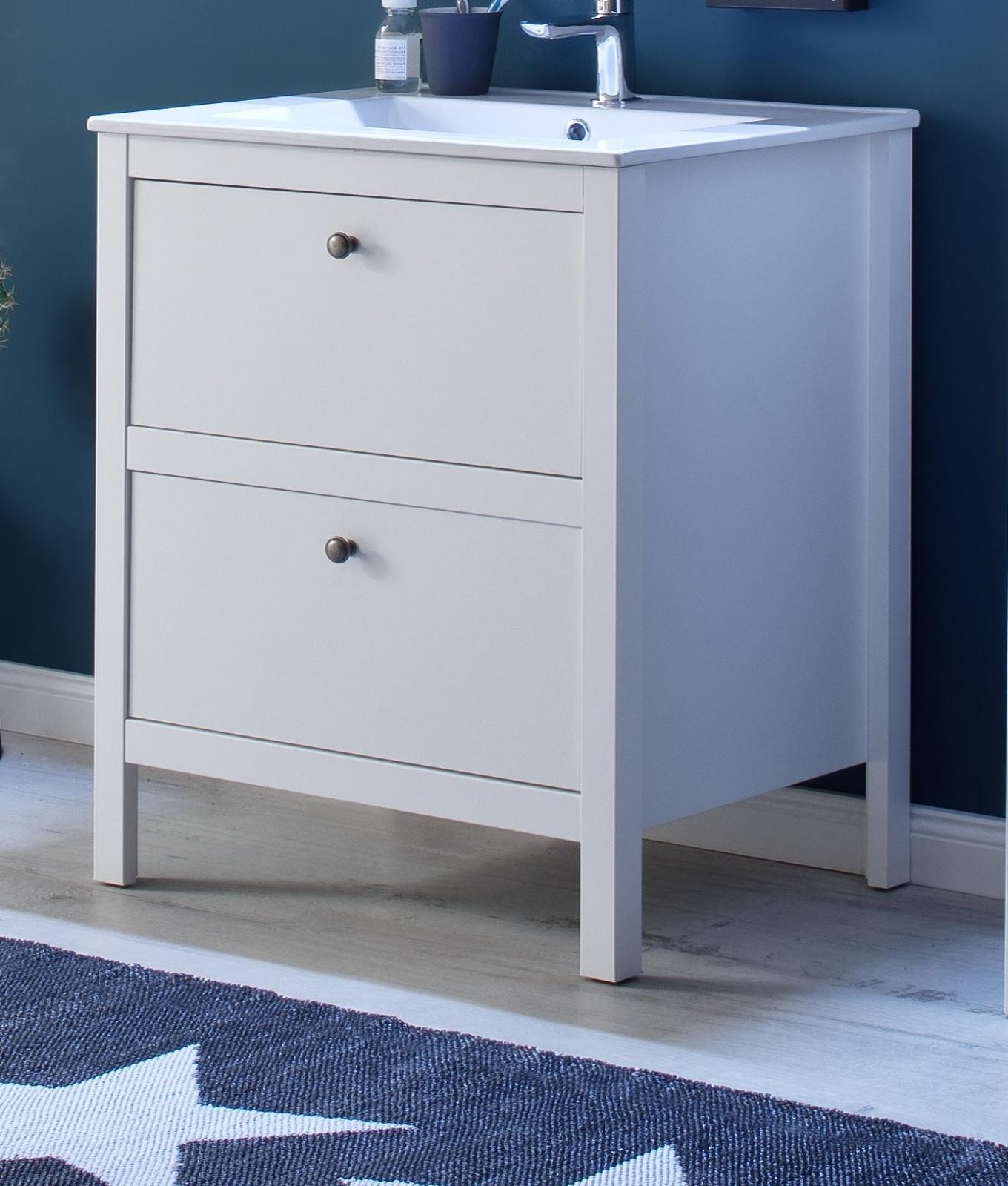 Waschbeckenunterschrank Ole weiß inkl. Waschbecken