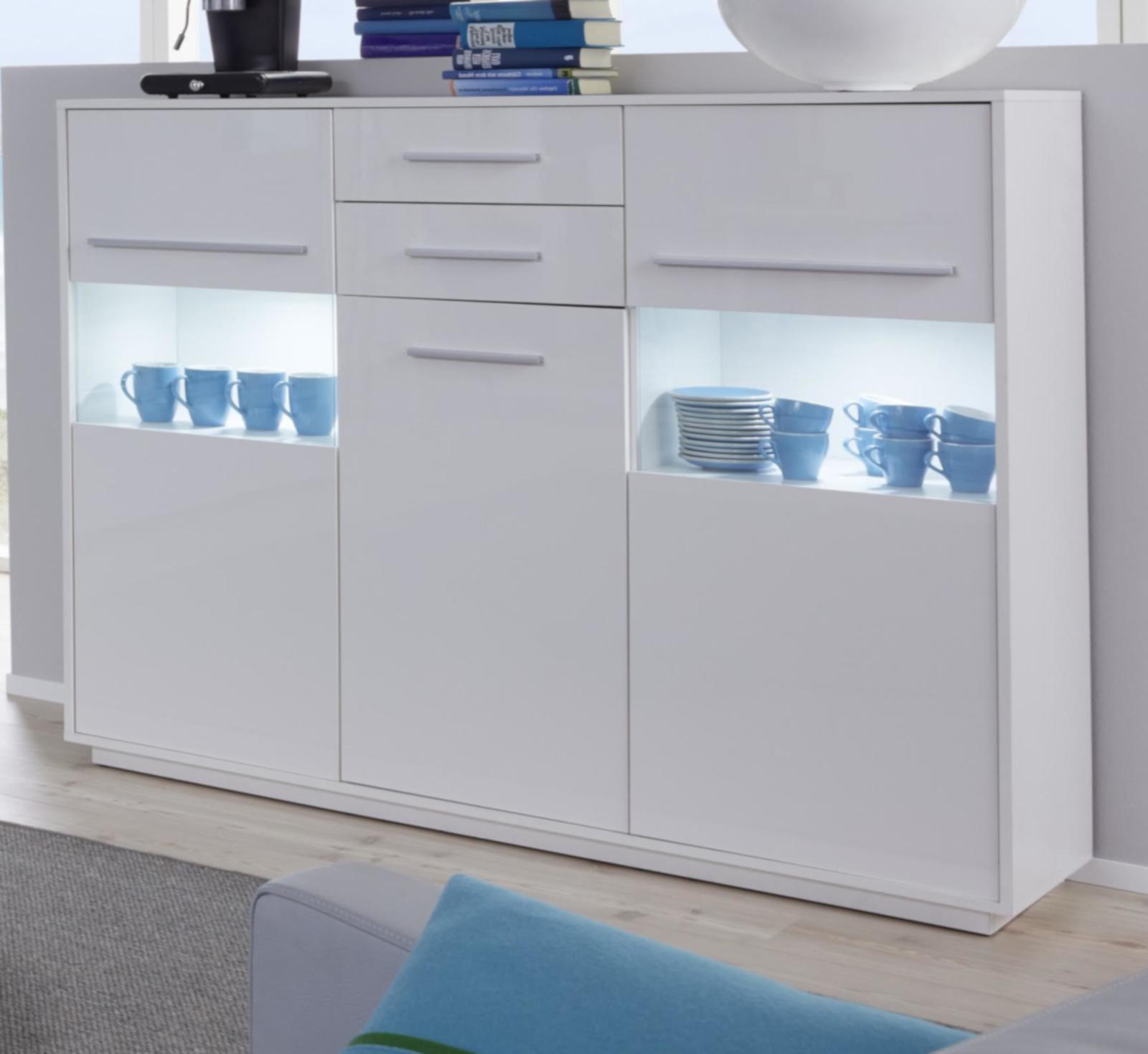 highboard kommode schwarz hochglanz lack italien savonio. Black Bedroom Furniture Sets. Home Design Ideas