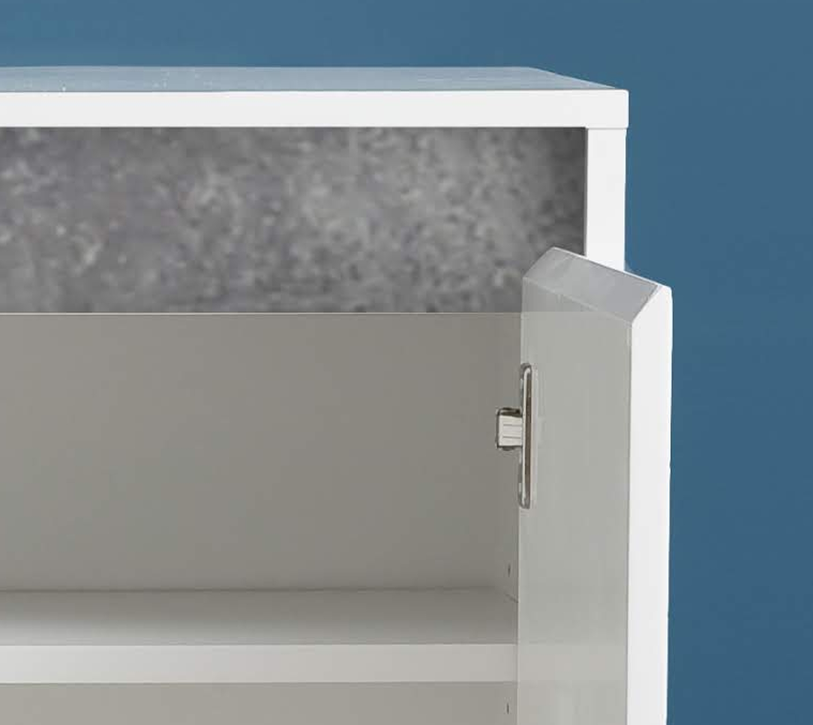kommode sol hochglanz wei und stone grau 80 x 84 cm. Black Bedroom Furniture Sets. Home Design Ideas