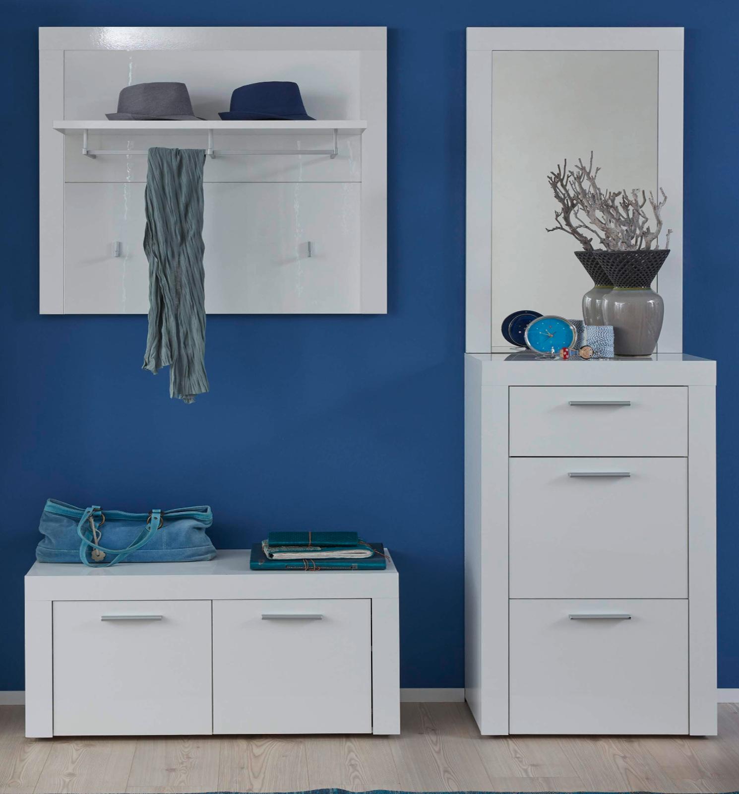 garderobe sitzbank kito hochglanz wei. Black Bedroom Furniture Sets. Home Design Ideas