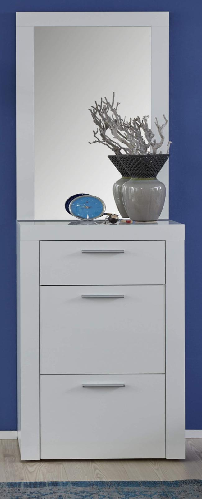 garderobenspiegel kito in hochglanz wei. Black Bedroom Furniture Sets. Home Design Ideas