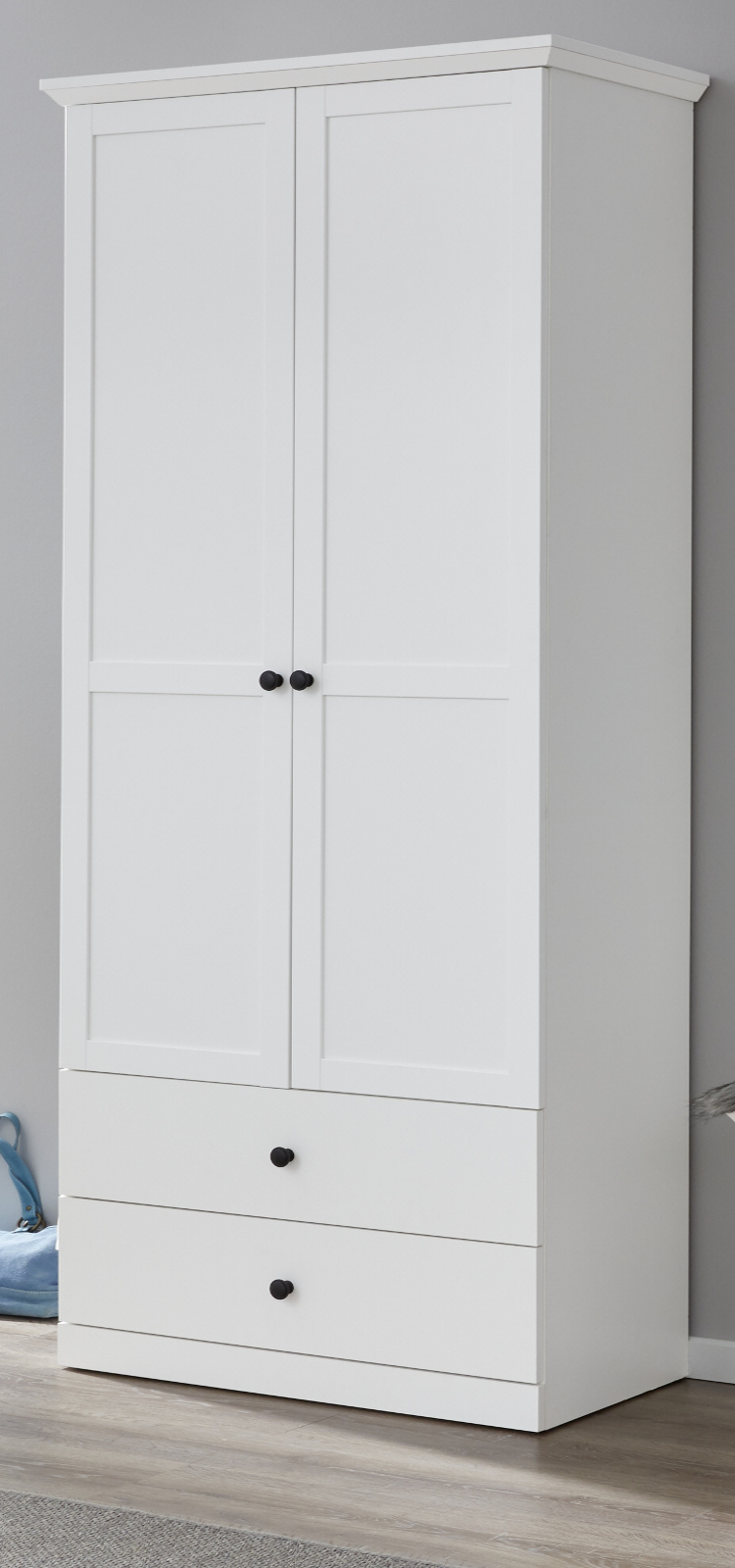 Garderobenschrank Baxter in weiß