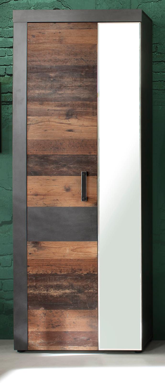 garderobenschrank garderobe und gro er schuhschrank used wood flur schrank indy ebay. Black Bedroom Furniture Sets. Home Design Ideas
