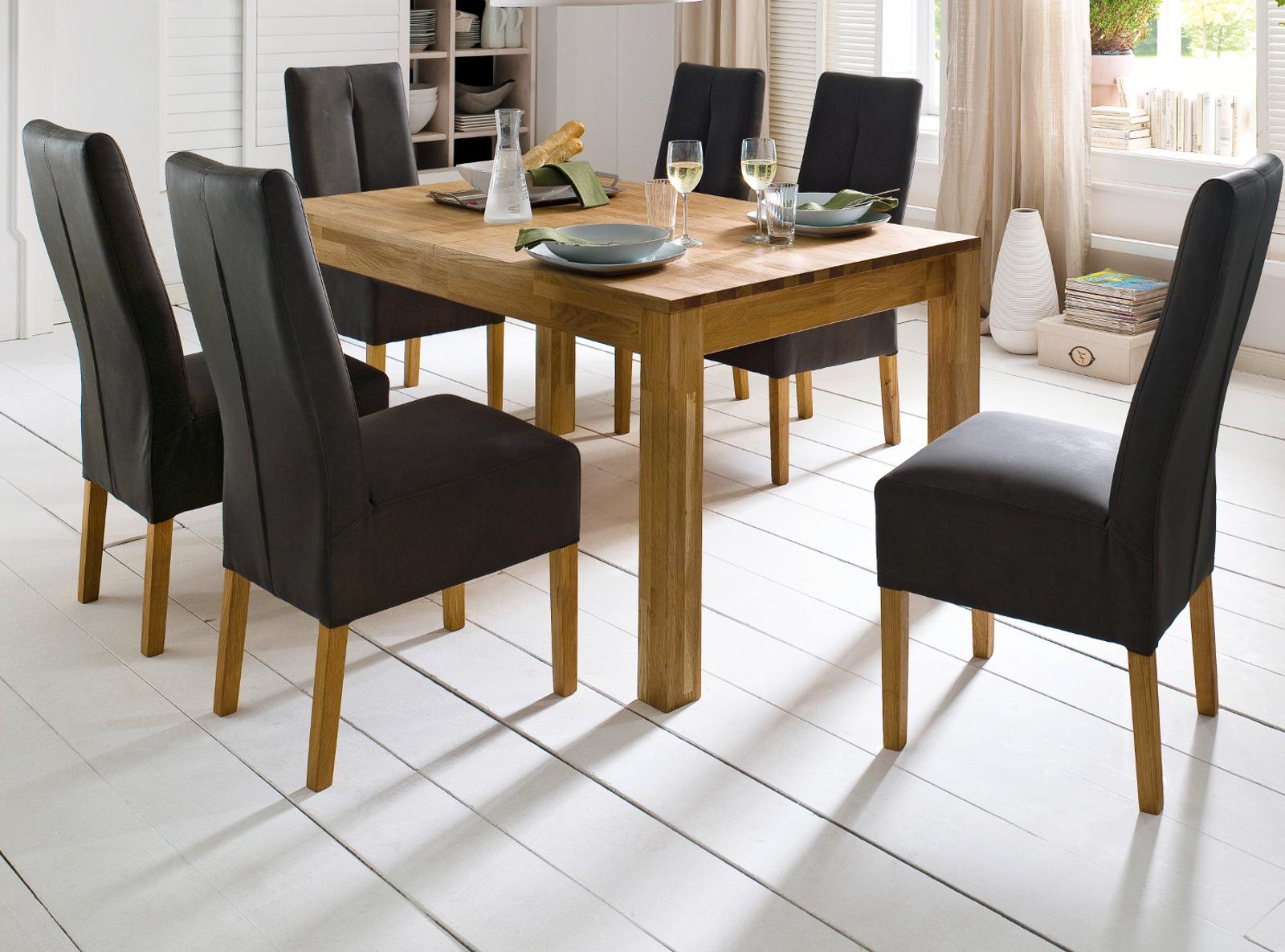 esstisch paul in wildeiche massiv 140 cm ausziehbar. Black Bedroom Furniture Sets. Home Design Ideas
