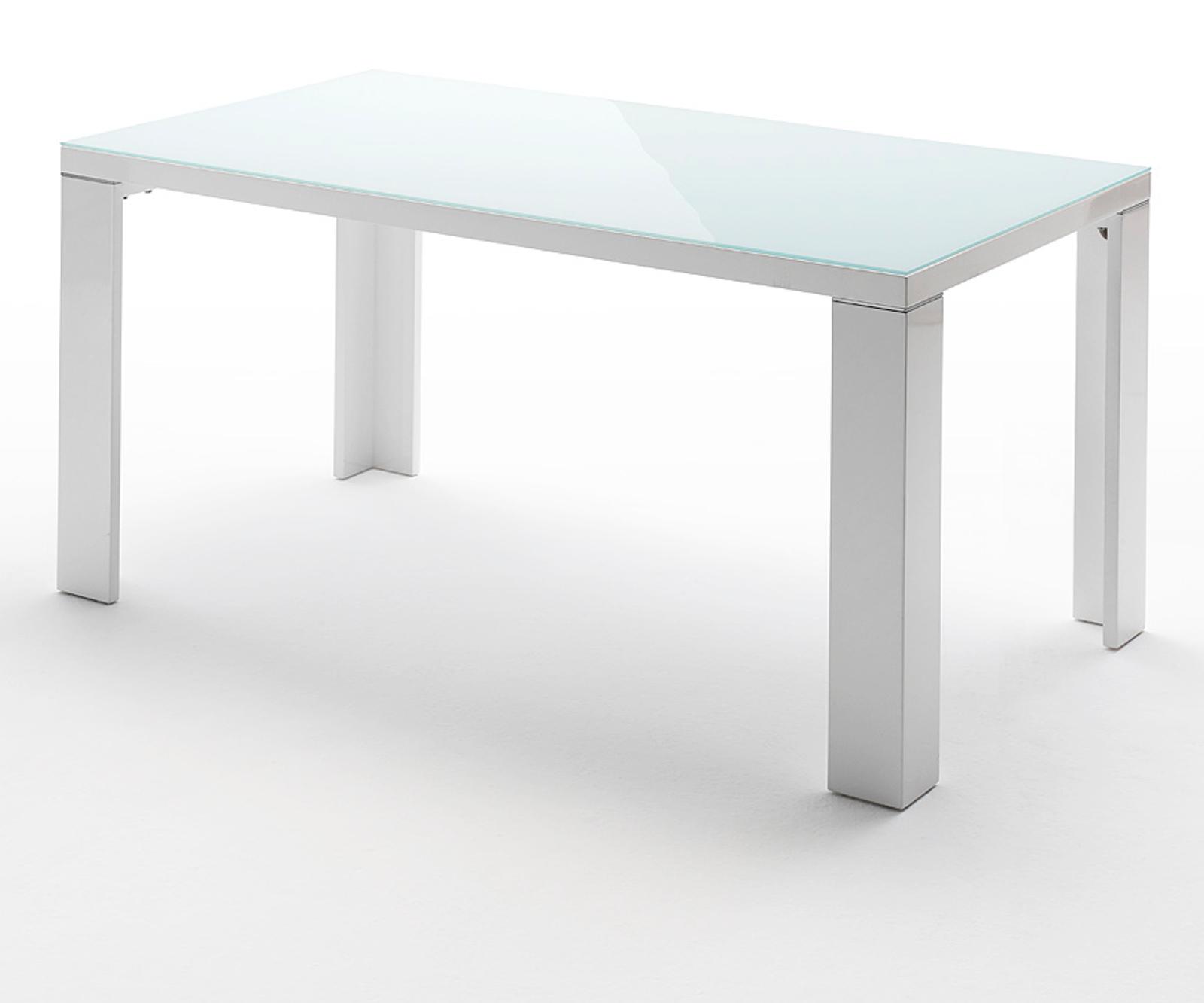 esstisch tizio hochglanz wei lack und glas 140 cm. Black Bedroom Furniture Sets. Home Design Ideas