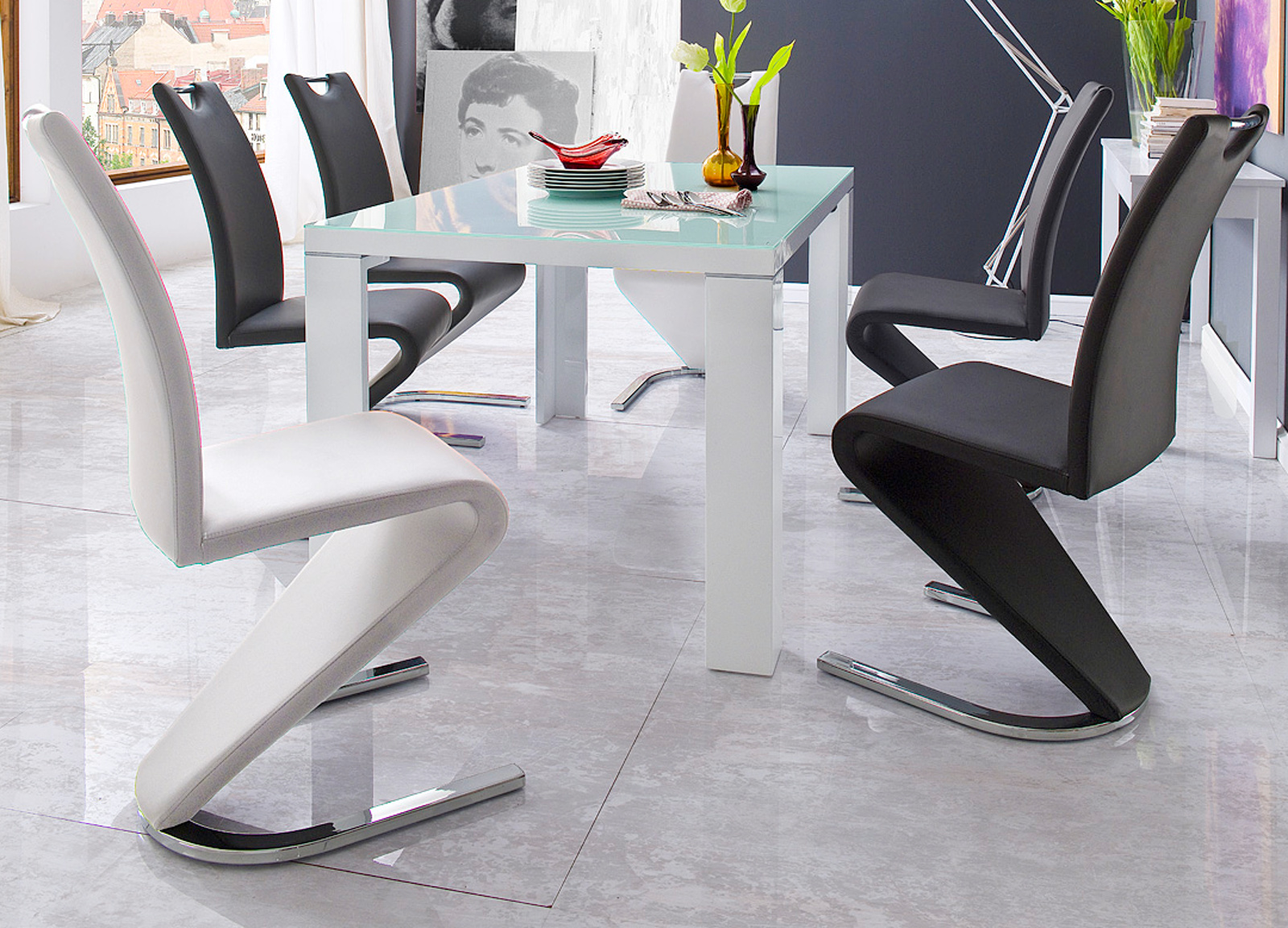 Büromöbel weiss grau  Moderne Büromöbel in Ahorn -