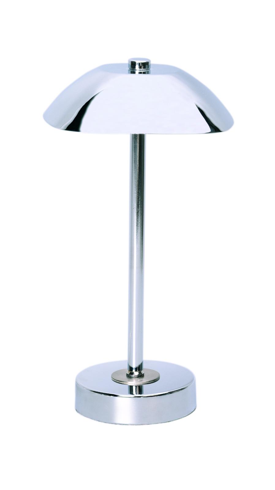 Tischleuchte tischlampe in chrom inkl led leuchtmittel for Leselampe designklassiker