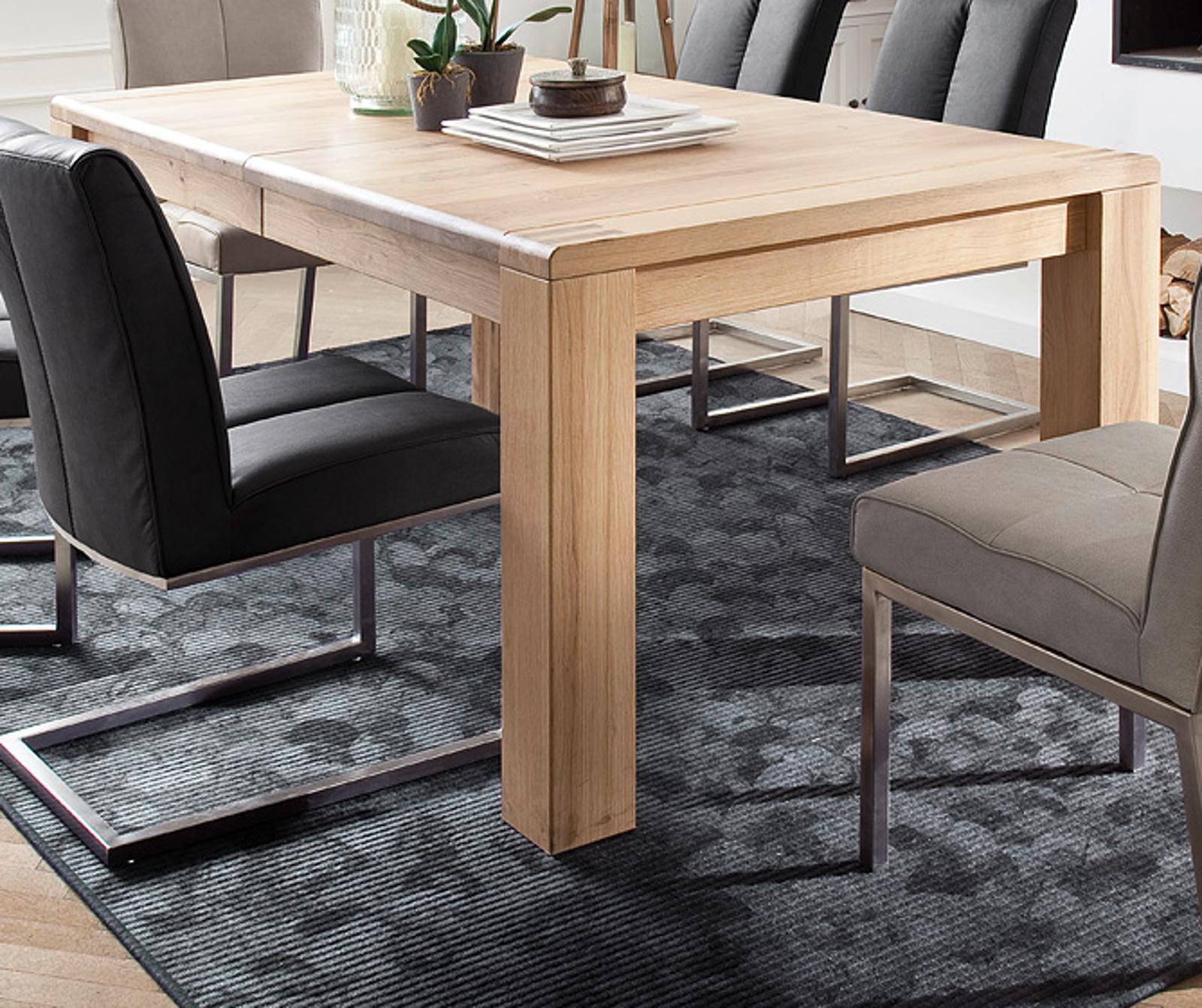 Esstisch Anton in Eiche Bianco massiv geölt Tisch 180 230 280 x 100 cm ausziehbar