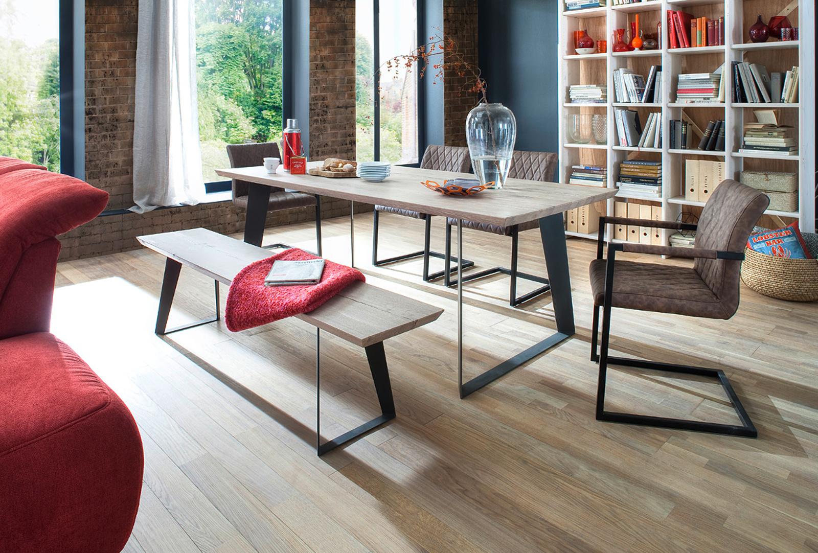esstisch janek eiche gek lkt 180 cm. Black Bedroom Furniture Sets. Home Design Ideas