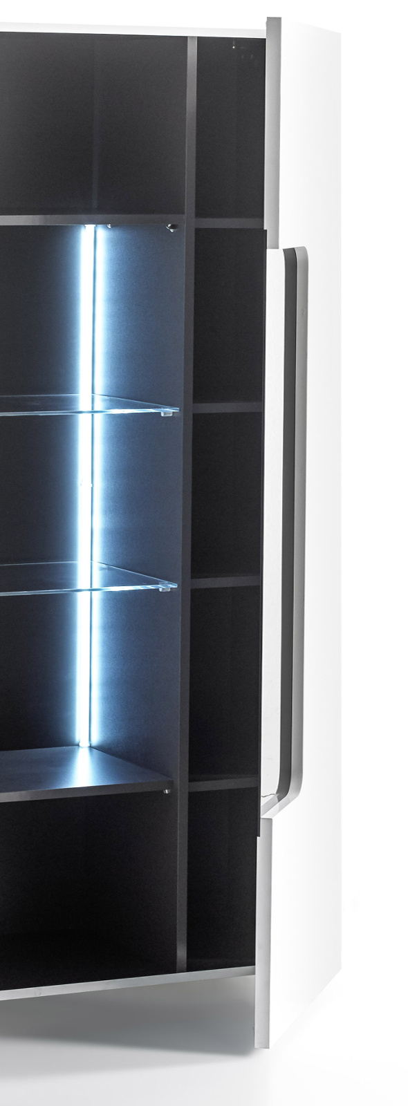 vitrine vicenza hochglanz wei lack 51 cm. Black Bedroom Furniture Sets. Home Design Ideas