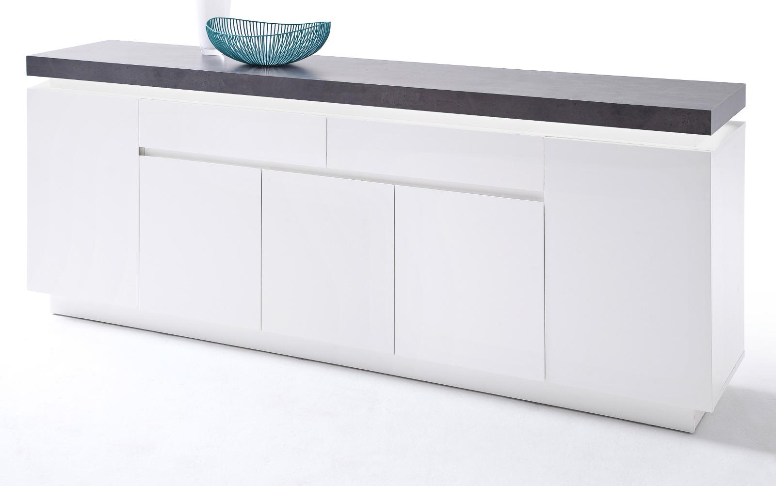 sideboard atlanta matt wei und stone design 200 cm. Black Bedroom Furniture Sets. Home Design Ideas