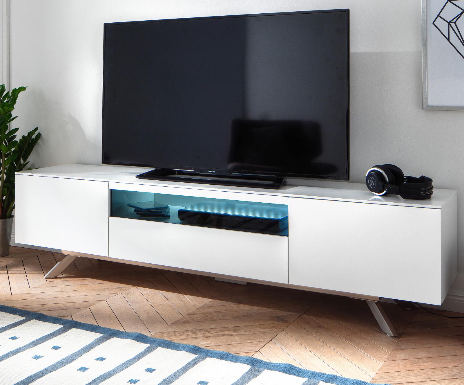 TV-Lowboard Lenia weiß matt Lack 183 cm