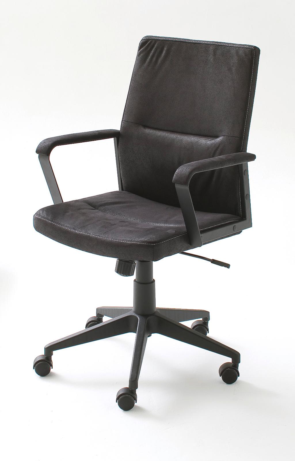 b rostuhl berno l schwarz bis 120 kg. Black Bedroom Furniture Sets. Home Design Ideas