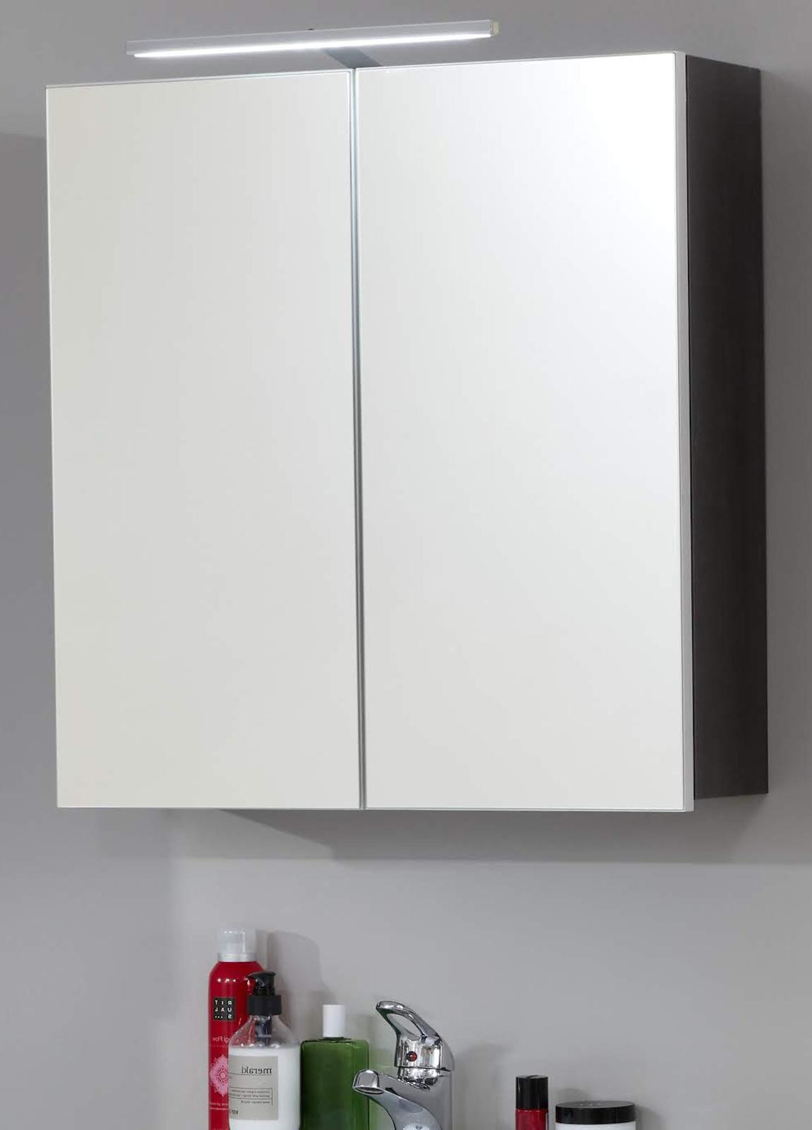 Spiegelschrank Line Sardegna Grau 60 Cm
