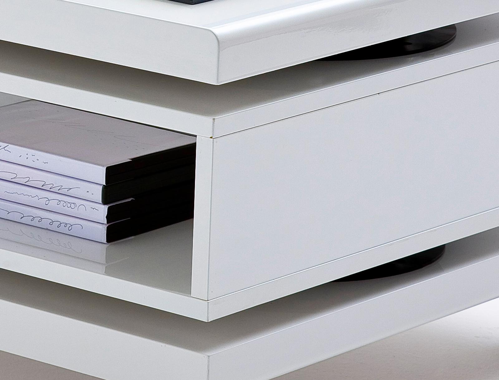 tisch esstisch s ulentisch wei hochglanz lack genova. Black Bedroom Furniture Sets. Home Design Ideas