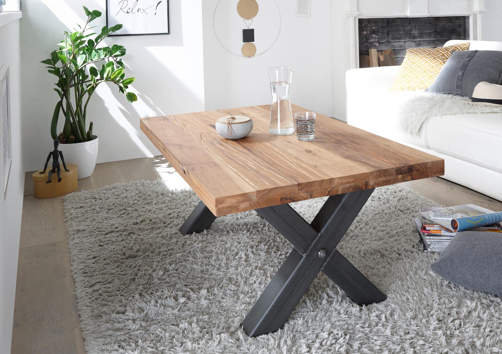 couchtisch andro wildeiche massiv 120 cm. Black Bedroom Furniture Sets. Home Design Ideas