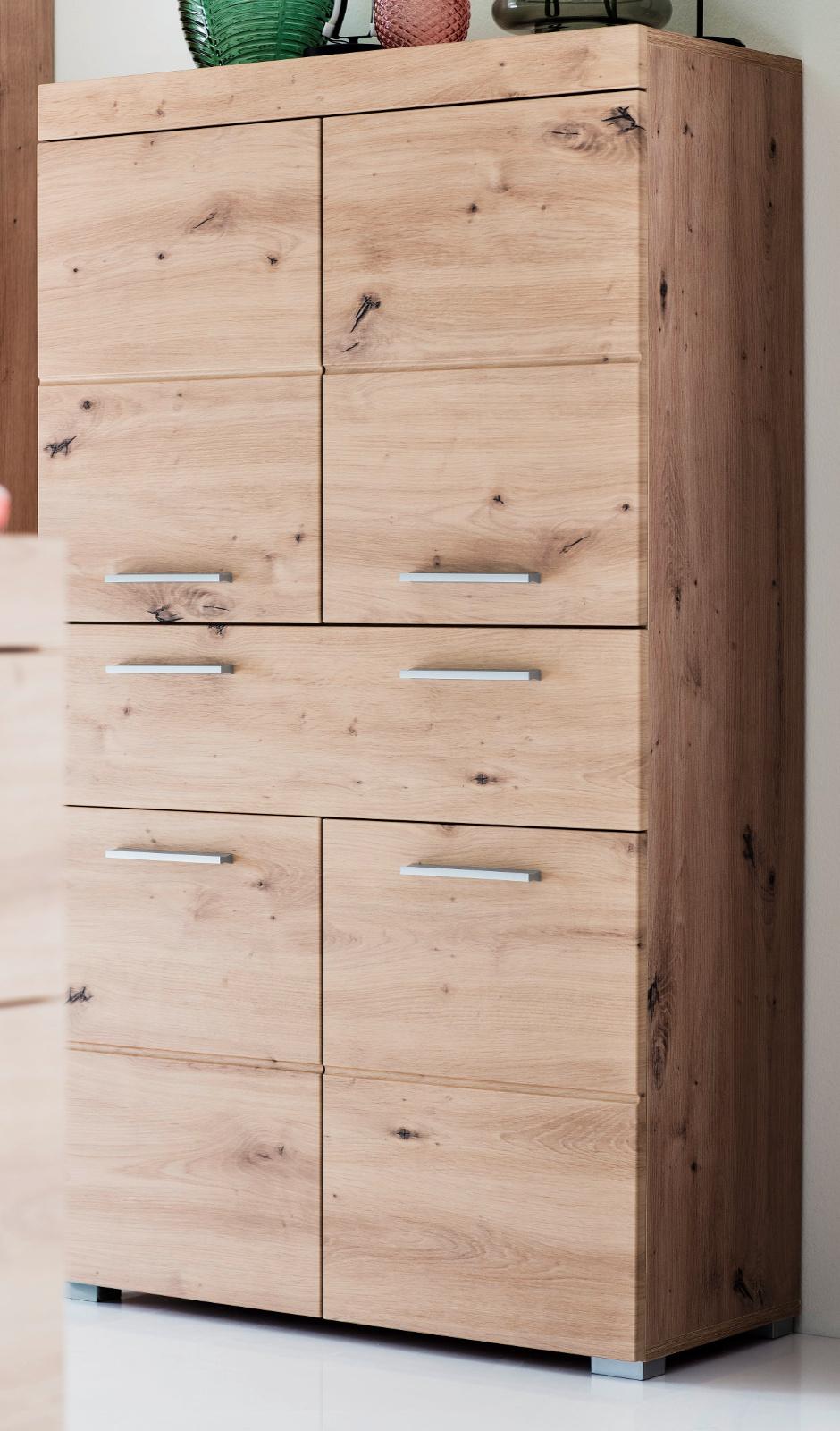 Details zu Badschrank Midischrank Eiche Asteiche Badezimmer Kommode  Badmöbel Amanda 18x18