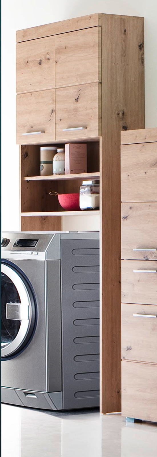 Badmobel Mit Waschmaschinenschrank.Waschmaschinenschrank Bad Amanda Eiche Asteiche 63 Cm
