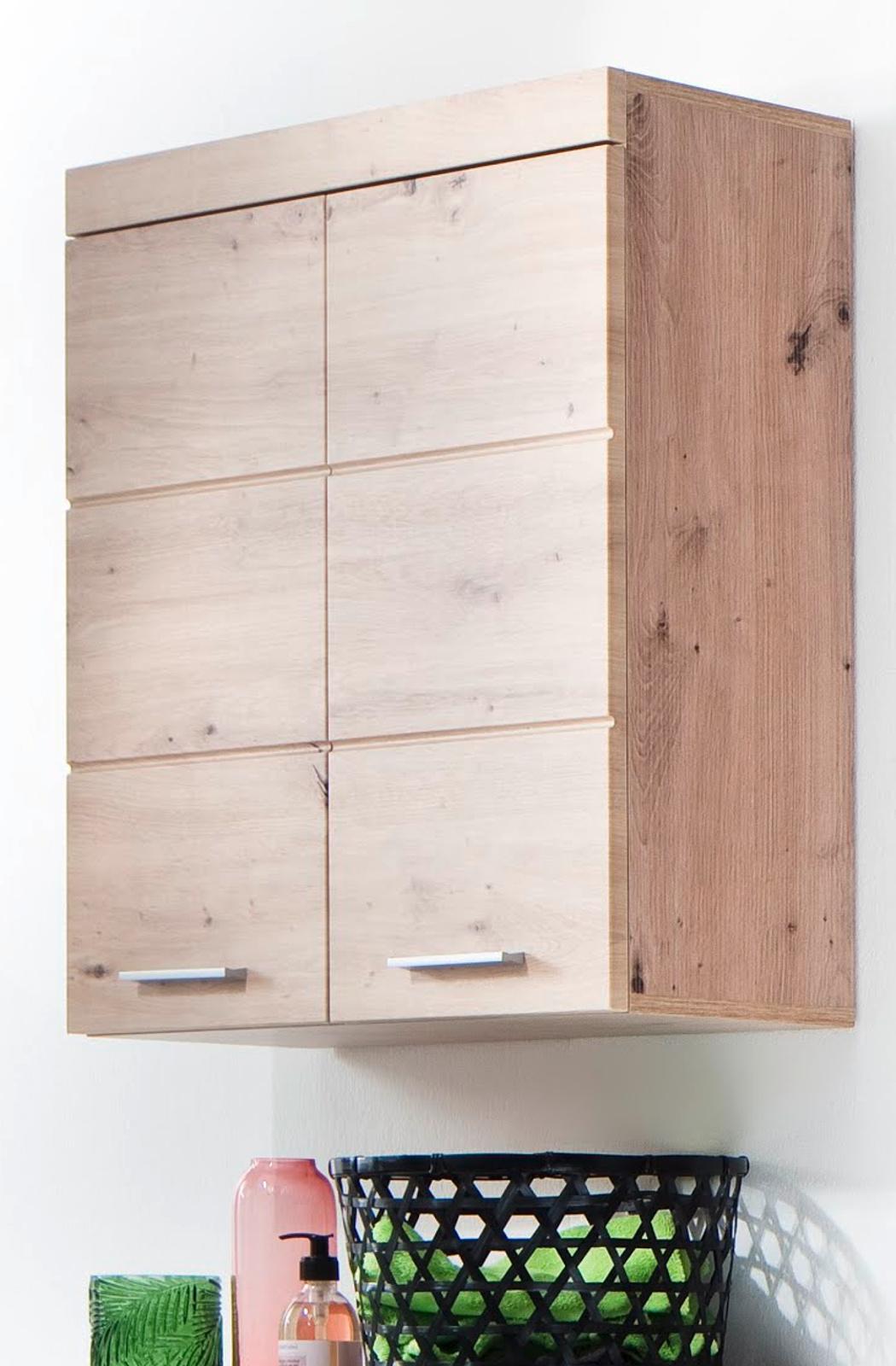 Details zu Bad Hängeschrank Schrank Ast Eiche Badezimmer Hänger 18 Türen 18  cm Möbel Amanda