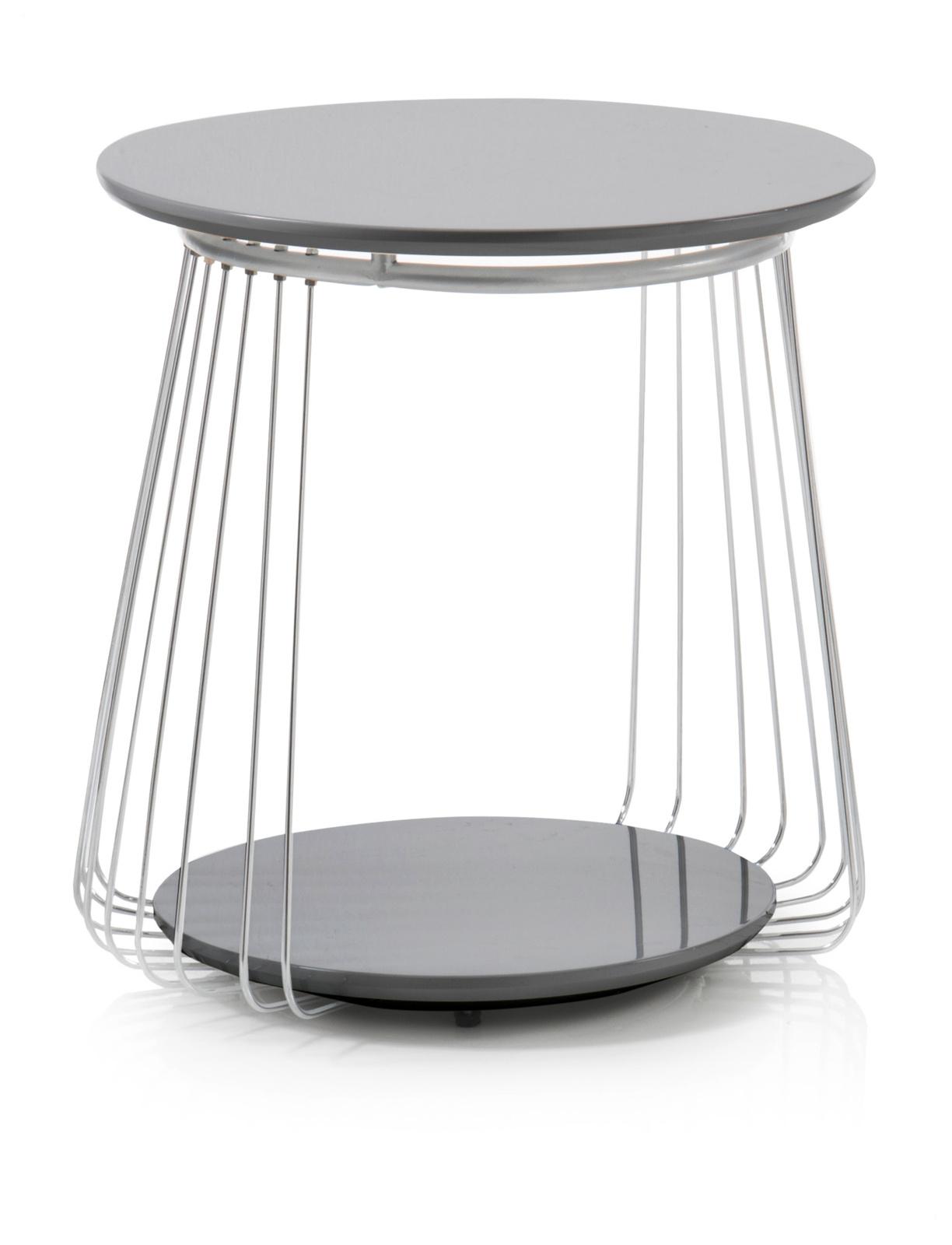 couchtisch vilnius matt schwarz 50 cm rund. Black Bedroom Furniture Sets. Home Design Ideas