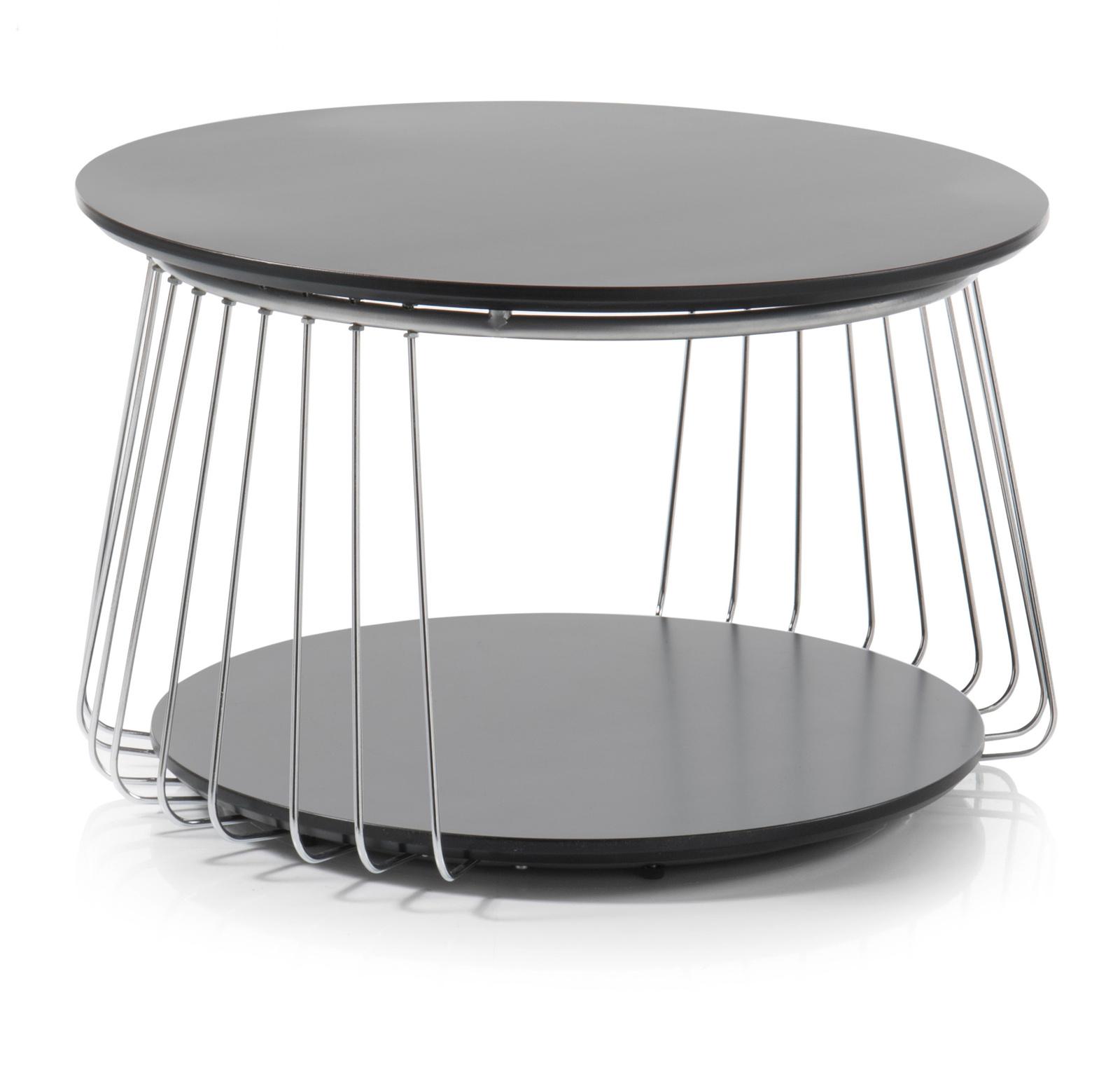 couchtisch vilnius matt schwarz 70 cm rund. Black Bedroom Furniture Sets. Home Design Ideas