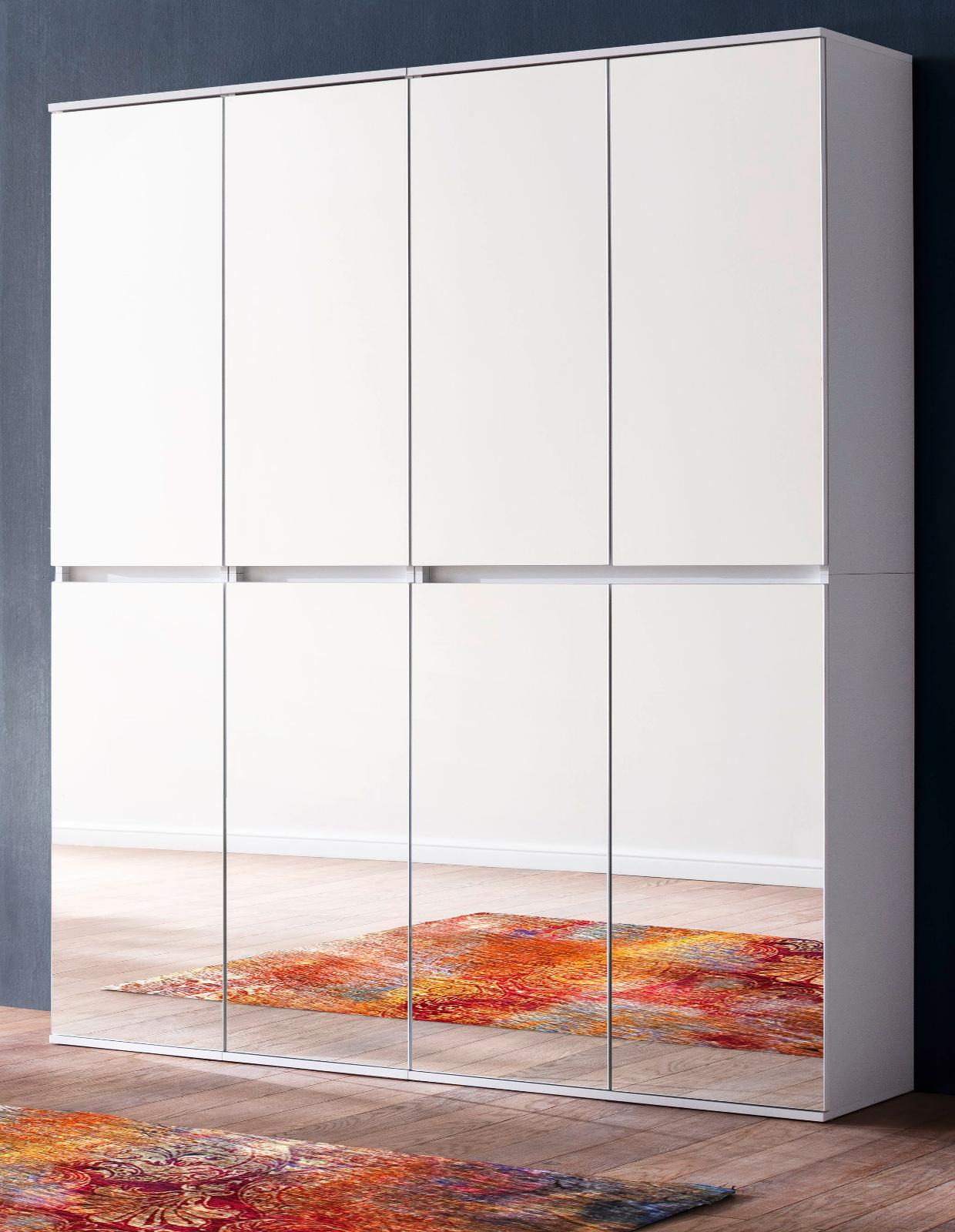 Garderoben Und Schuhschrank Mirror Weiss 148 Cm