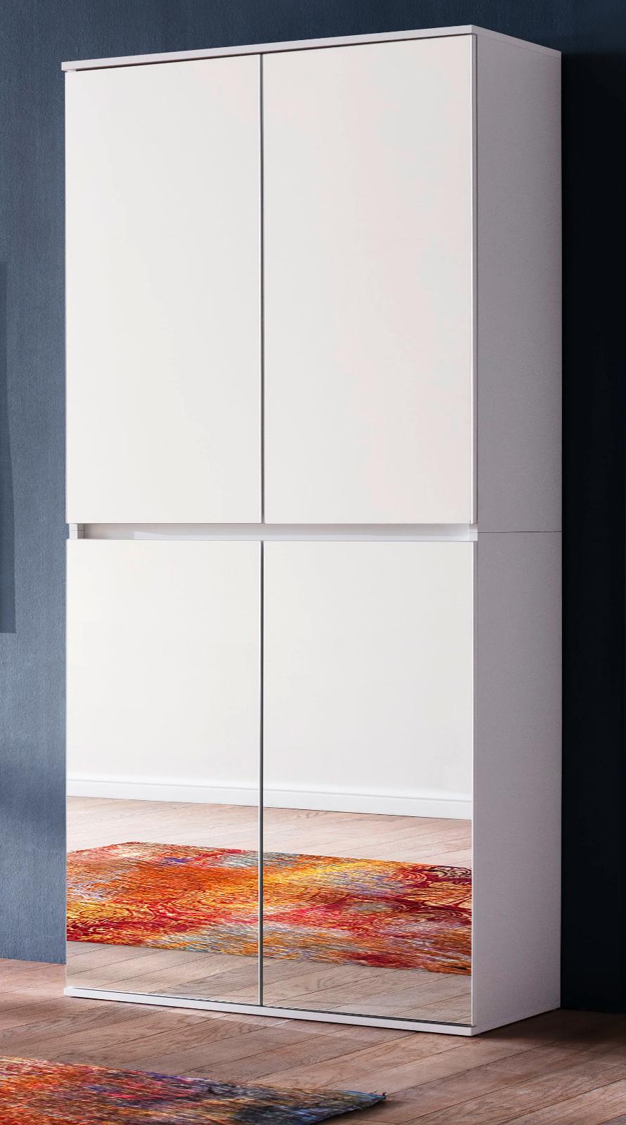 garderoben und schuhschrank mirror wei 74 cm