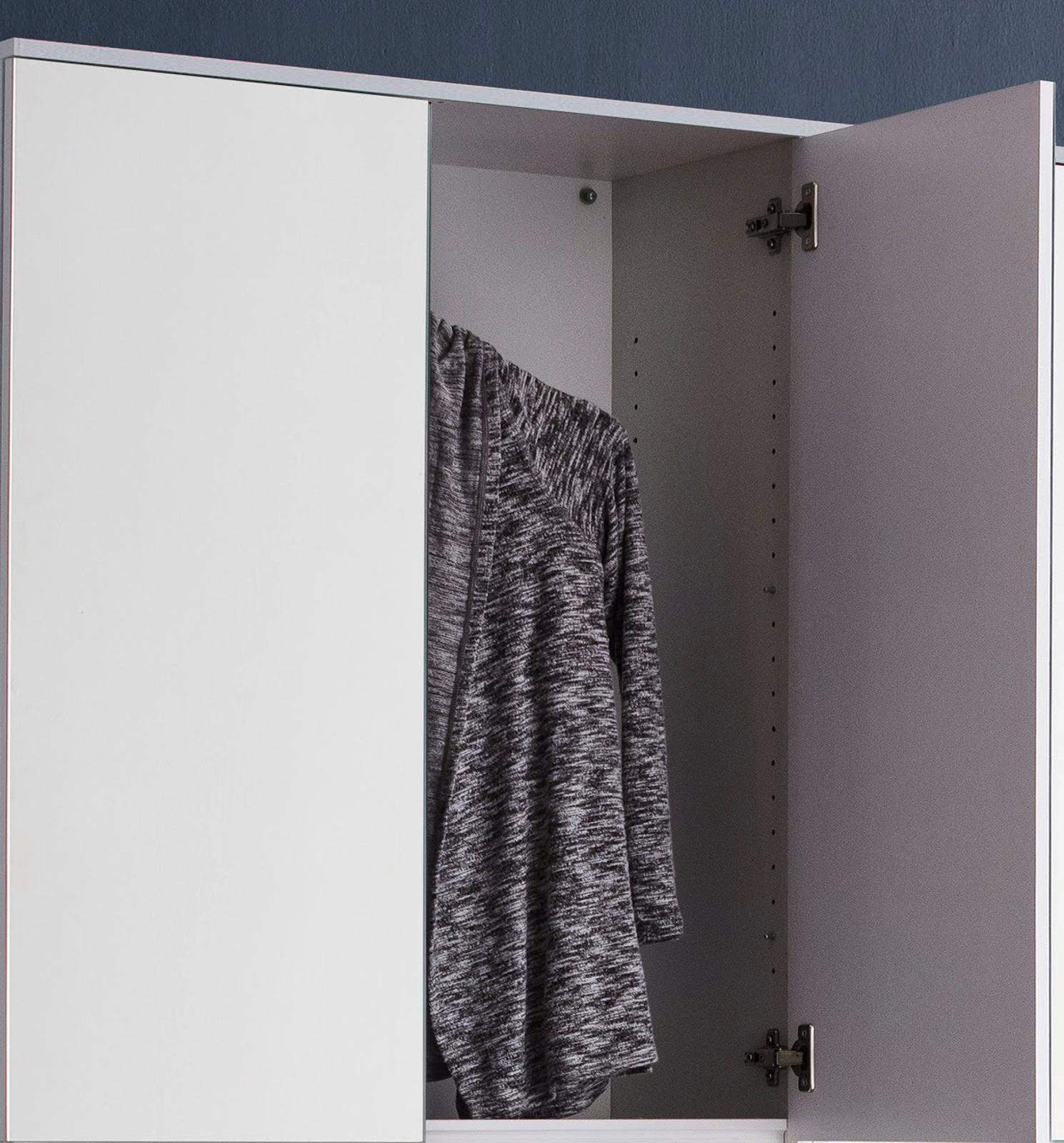 garderoben und schuhschrank mirror wei 74 cm. Black Bedroom Furniture Sets. Home Design Ideas