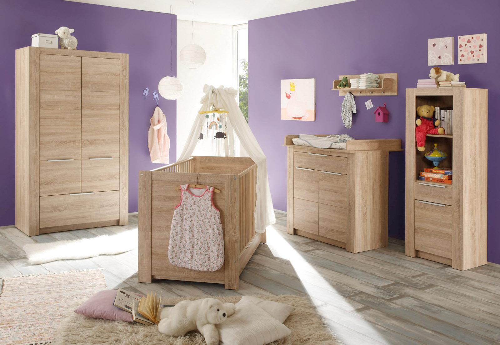Babyzimmer Kleiderschrank Eiche sägerau