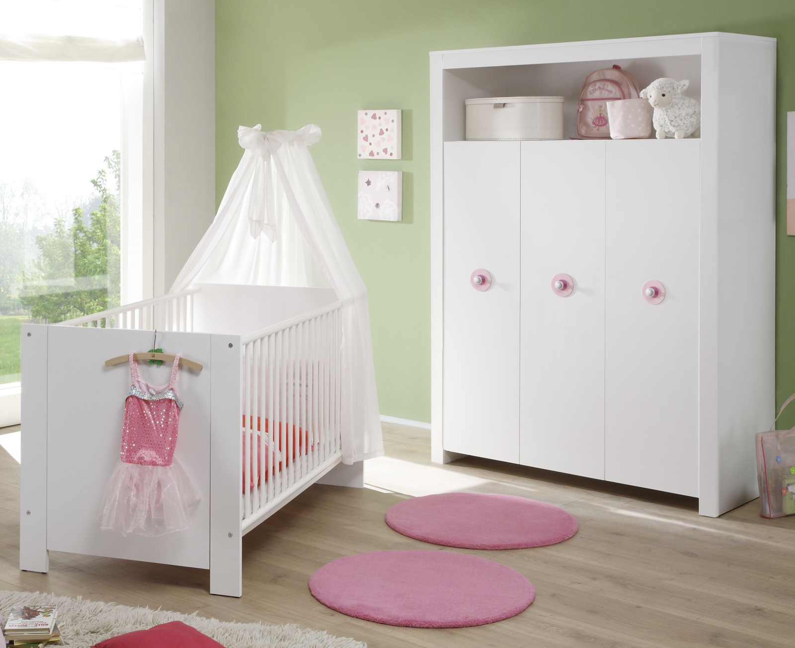 babyzimmer kleiderschrank olivia wei design rosa. Black Bedroom Furniture Sets. Home Design Ideas