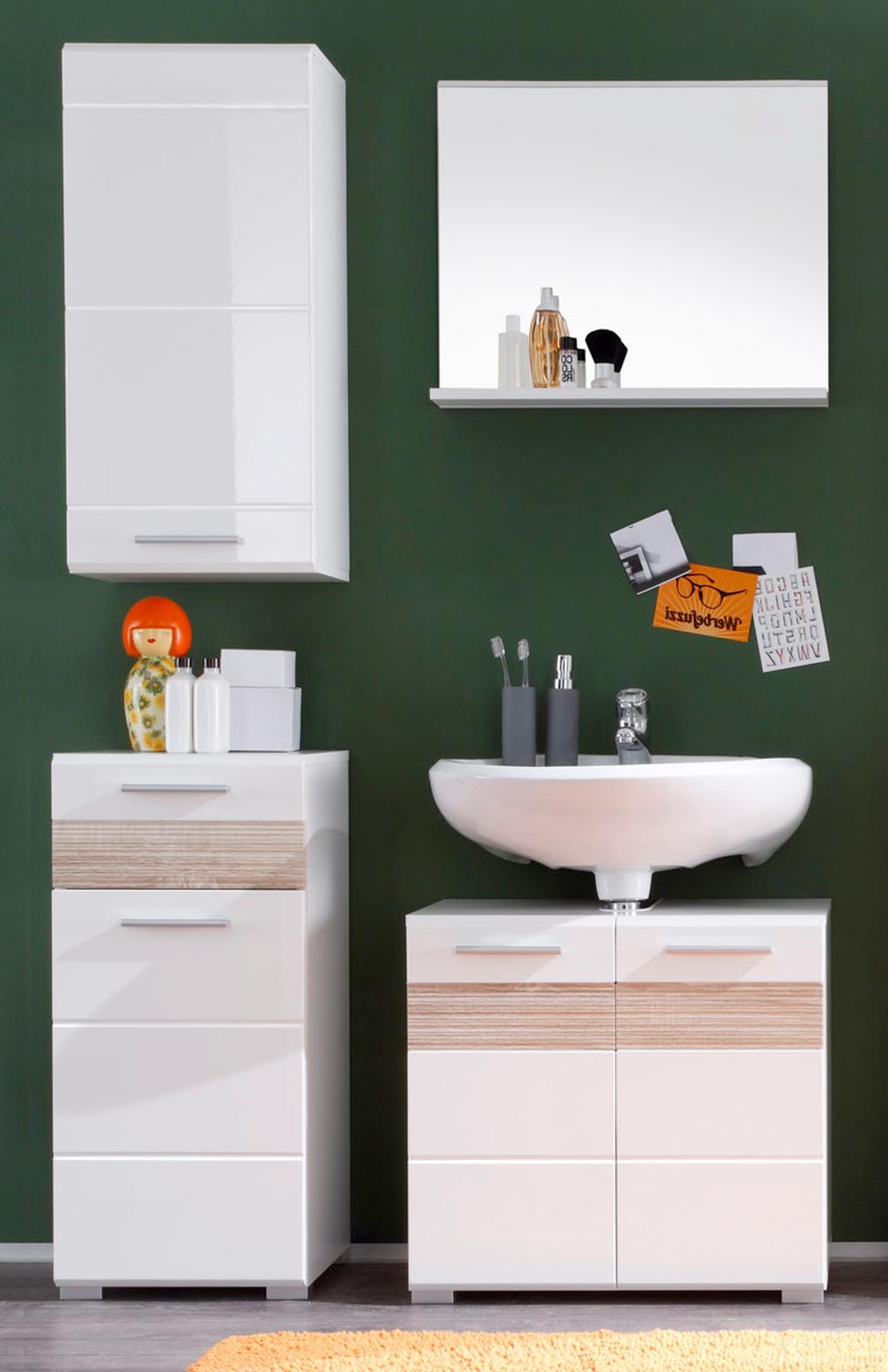 Badezimmer Mezzo weiß Hochglanz günstig kaufen