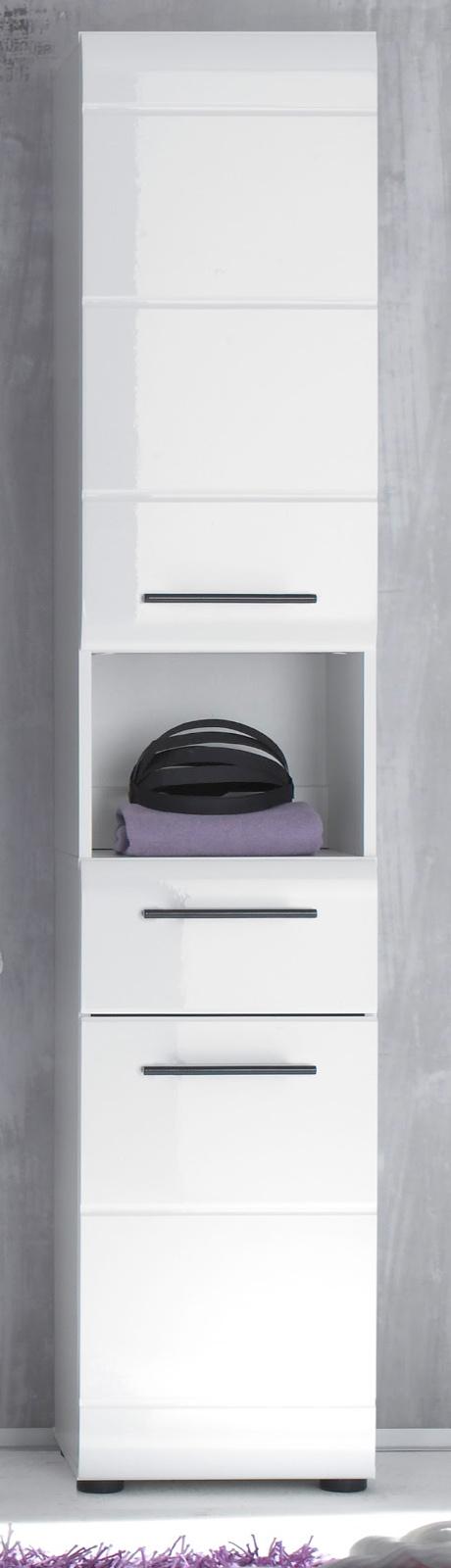 badschrank skin wei hochglanz. Black Bedroom Furniture Sets. Home Design Ideas