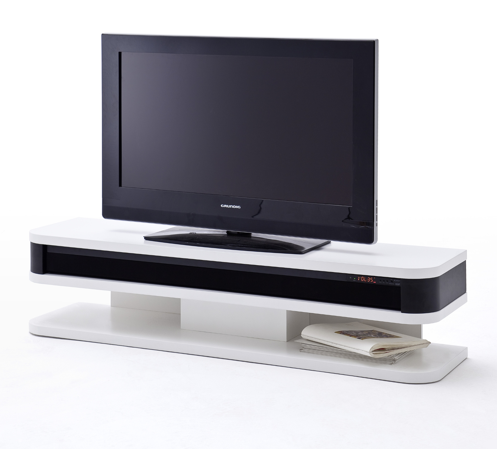 tv lowboard junior wei lack mit soundsystem. Black Bedroom Furniture Sets. Home Design Ideas