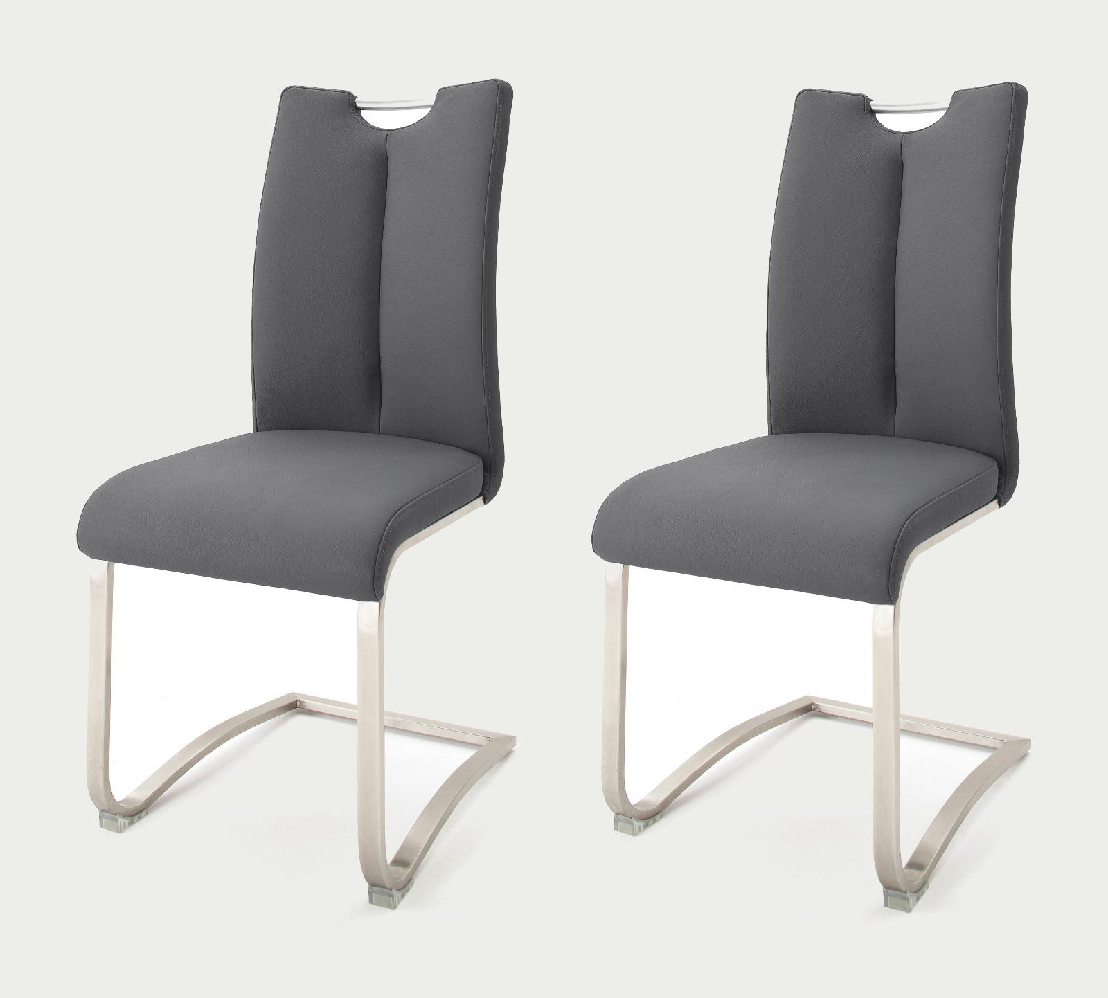 Stühle Grau Leder : 2 x stuhl artos grau schwinger leder ~ Watch28wear.com Haus und Dekorationen
