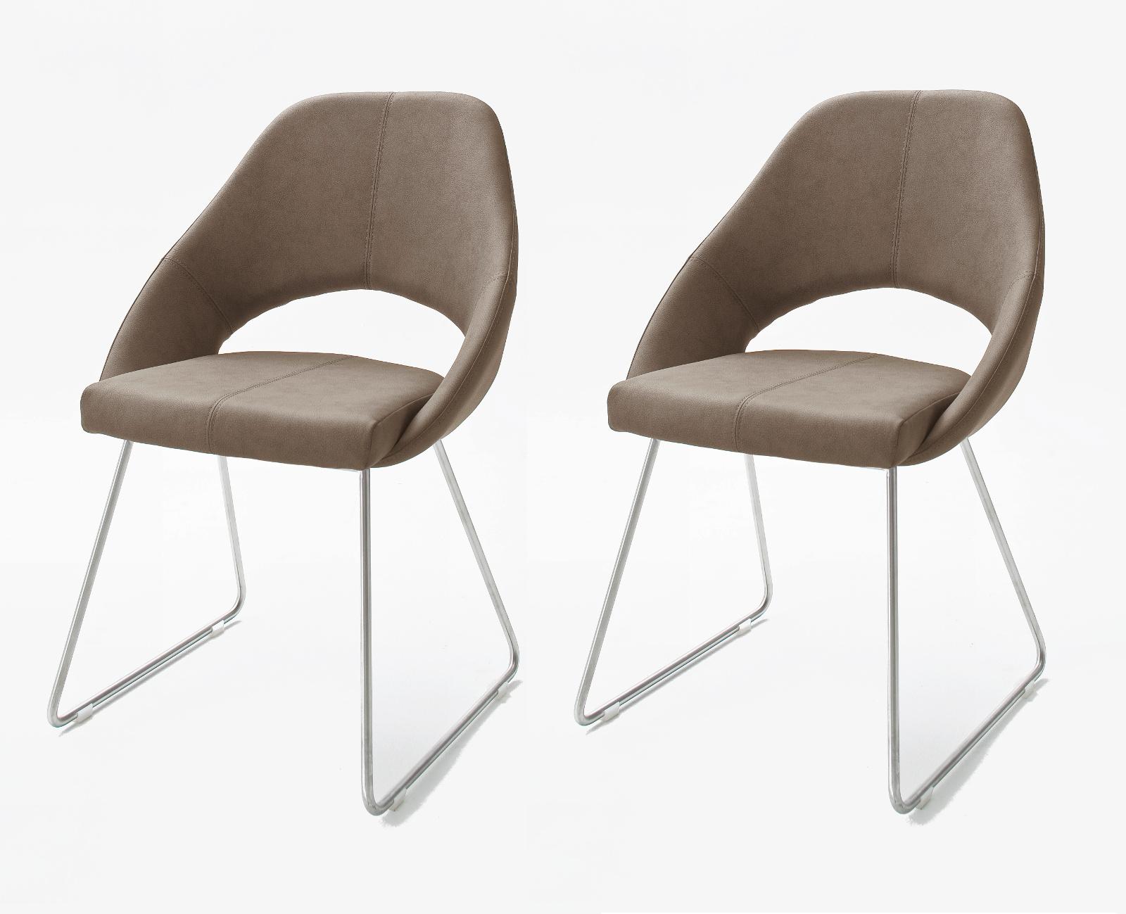 MCA Furniture Dajana Kufenstuhl (2-er Set) taupe DA7419_TA