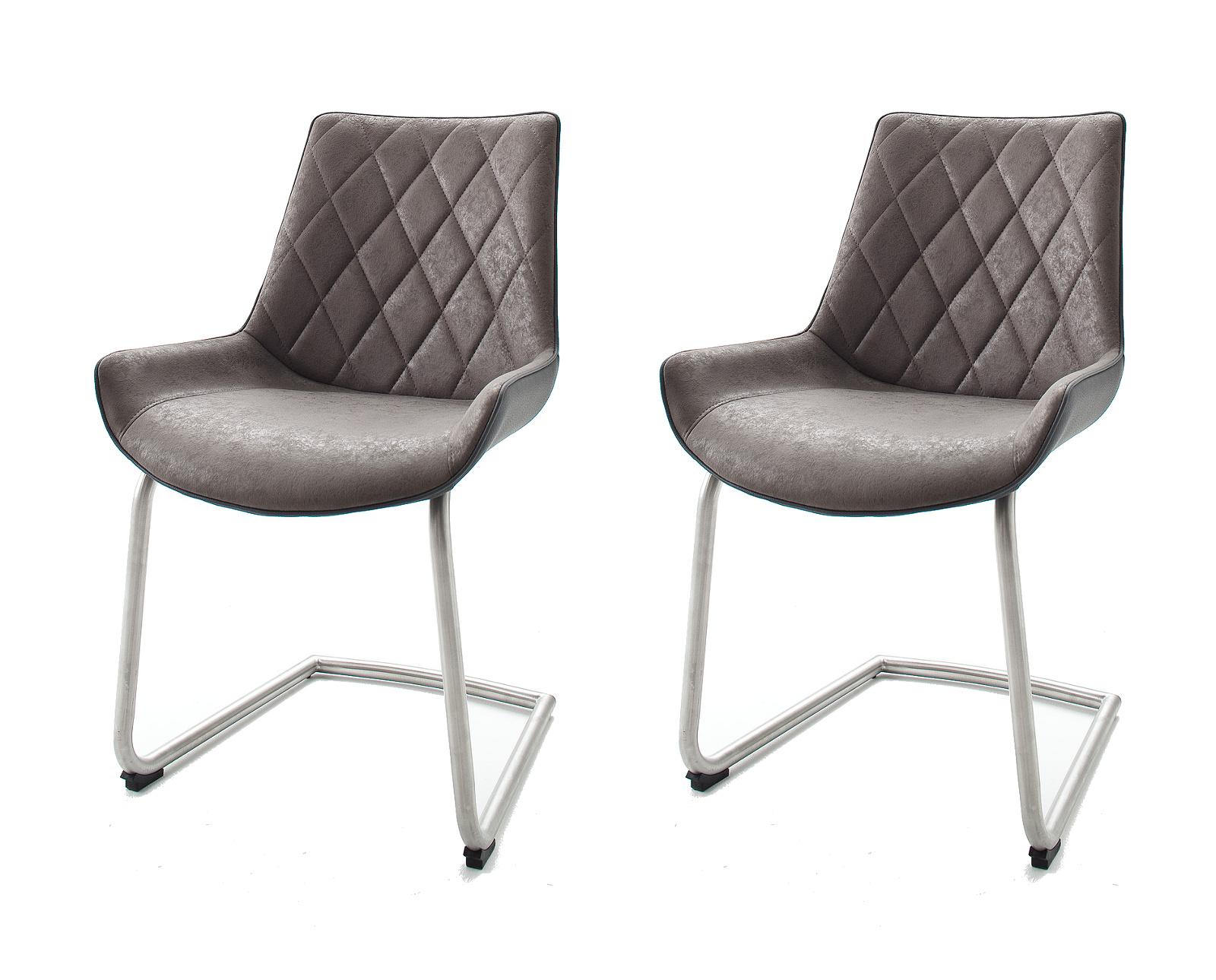 2 X Stuhl Danita Grau Schwinger