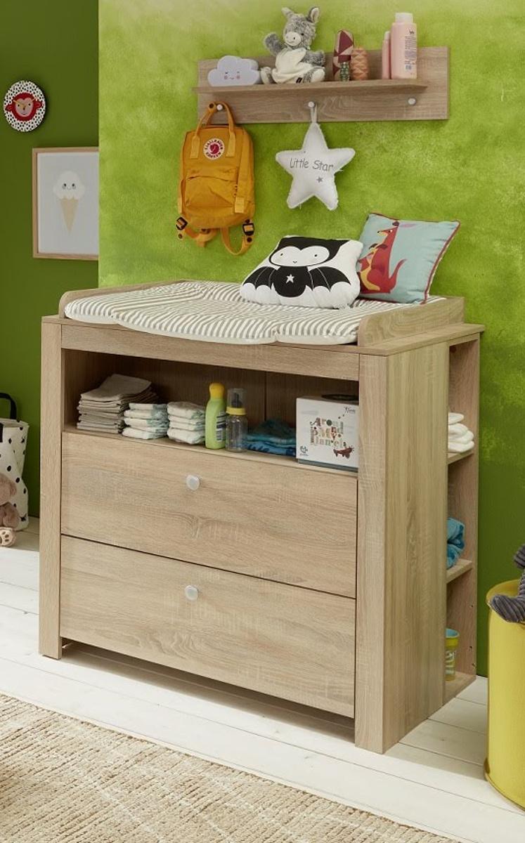 babyzimmer olivia komplett set 5 teilig eiche hell. Black Bedroom Furniture Sets. Home Design Ideas