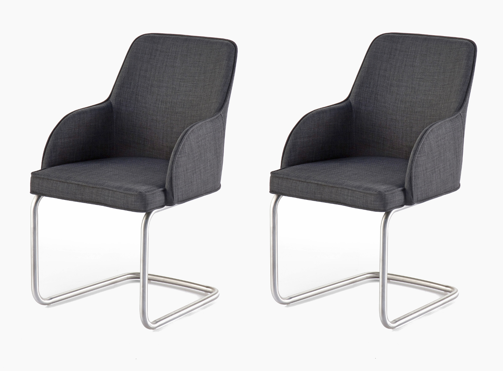 2 X Stuhl Elara Grau Schwinger