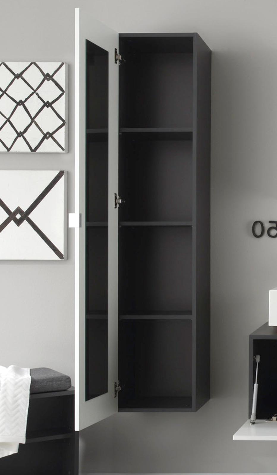 Hochschrank badezimmer  Badmöbel Beach Weiß/Grau günstig online kaufen