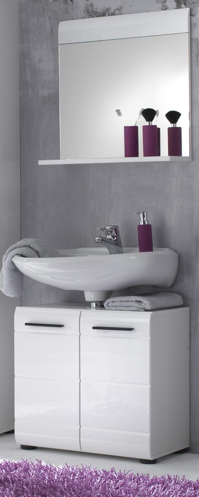 waschbeckenunterschrank hochglanz wei. Black Bedroom Furniture Sets. Home Design Ideas