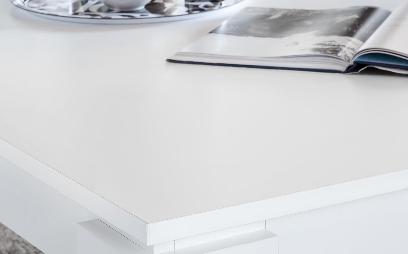 Couchtisch weiß mit Ablage Holztisch 120 cm ...
