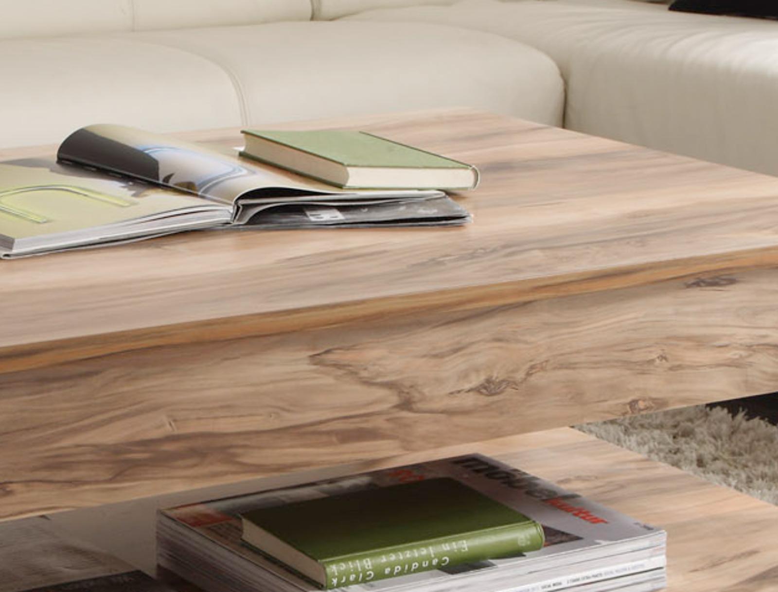 couchtisch beistelltisch nussbaum satin wohnzimmer holz tisch, Gestaltungsideen