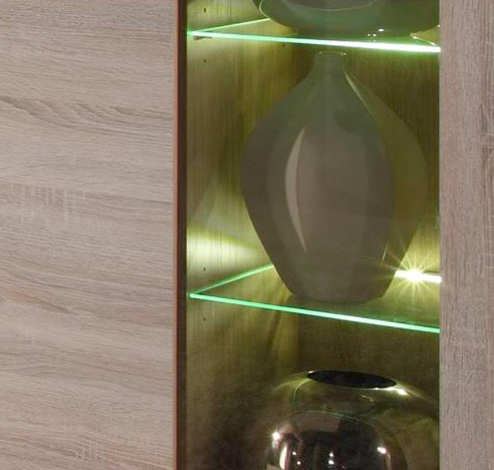 Wohnzimmer Wohnwand Boom Sonoma Eiche Sagerau Hell 310 X 215 Cm Inkl Led Beleuchtung