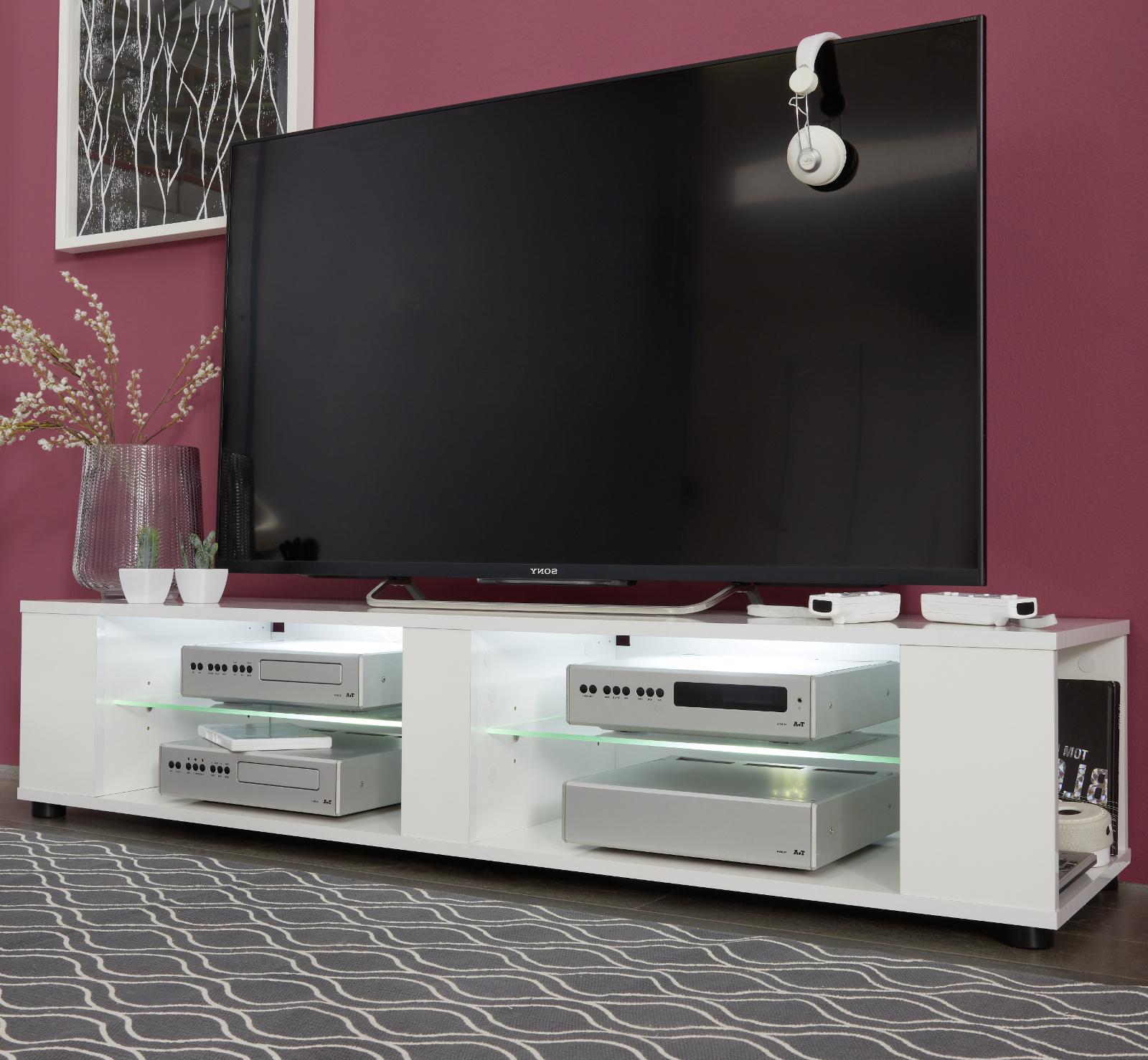 TV-Lowboard Hennes weiß Glanz 140 cm