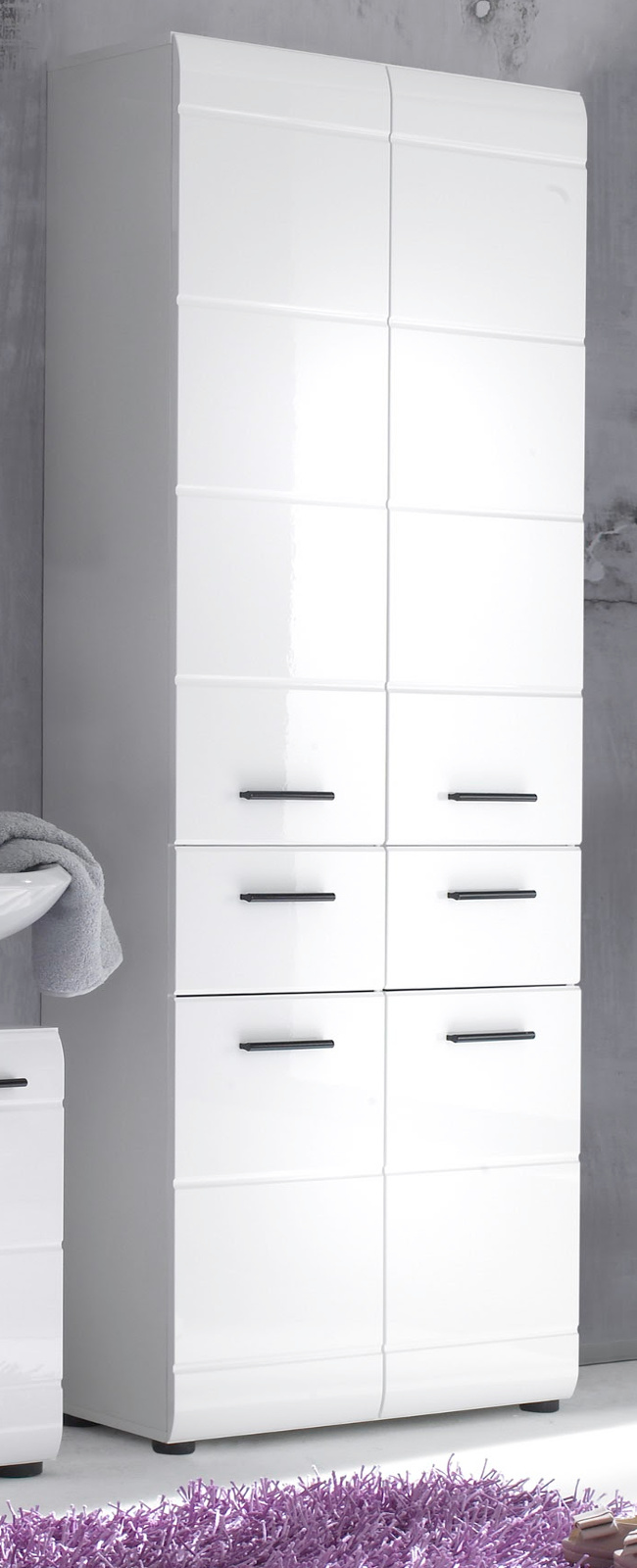 badschrank hochschrank skin wei hochglanz. Black Bedroom Furniture Sets. Home Design Ideas