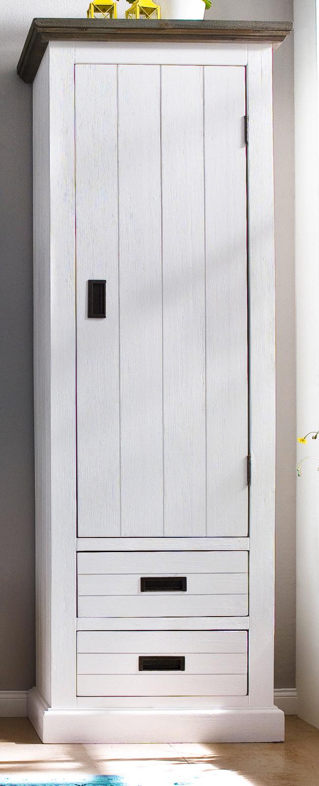 Garderobenschrank Gomera Akazie Weiss Massiv 60 Cm