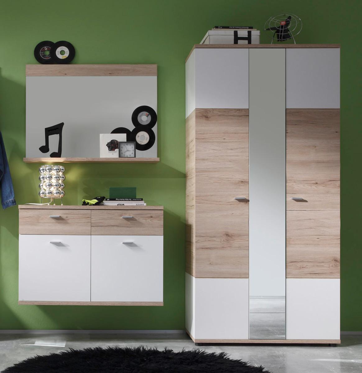 Garderobe Campus Eiche Weiss Gunstig Online Kaufen