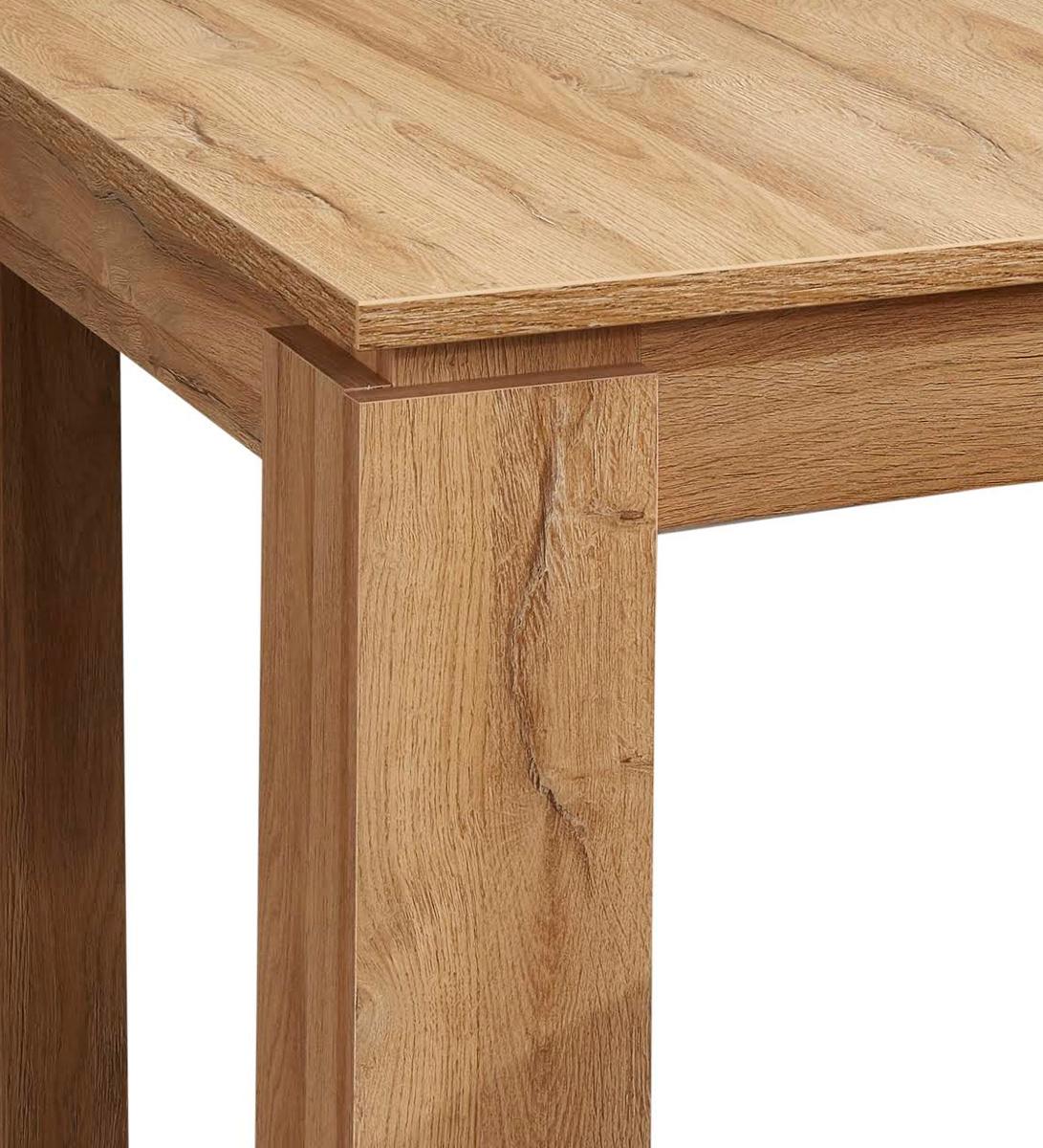 Esstisch in Wotan Eiche Küchentisch ausziehbar mit Einlegeplatte 160 200 x 90 cm Holztisch