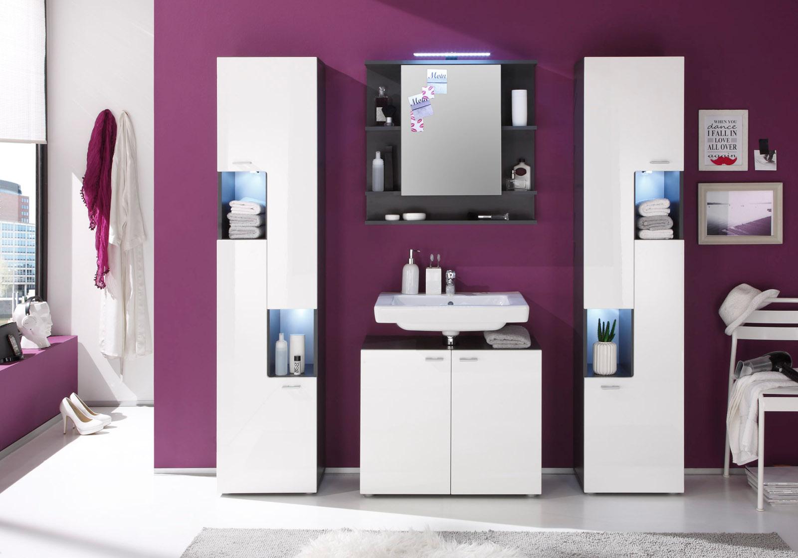 Badmöbel weiss grau  Waschbeckenunterschrank Tetis weiß günstig kaufen
