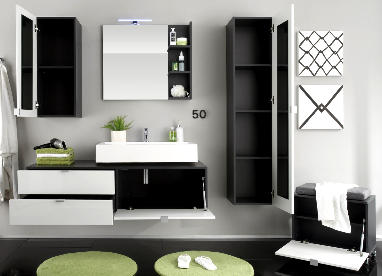 Badezimmer Hochschrank Hangend ~ Raum- Und Möbeldesign-inspiration Badezimmer Wei Grau